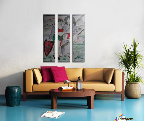 AKP1 Split Canvas print