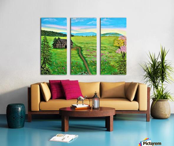 Sweet Little Home on Plains Split Canvas print