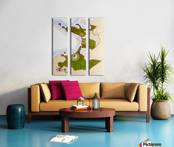 the green nation Split Canvas print