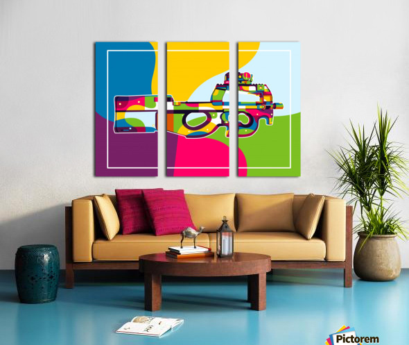 FN P90 Pop Art Split Canvas print