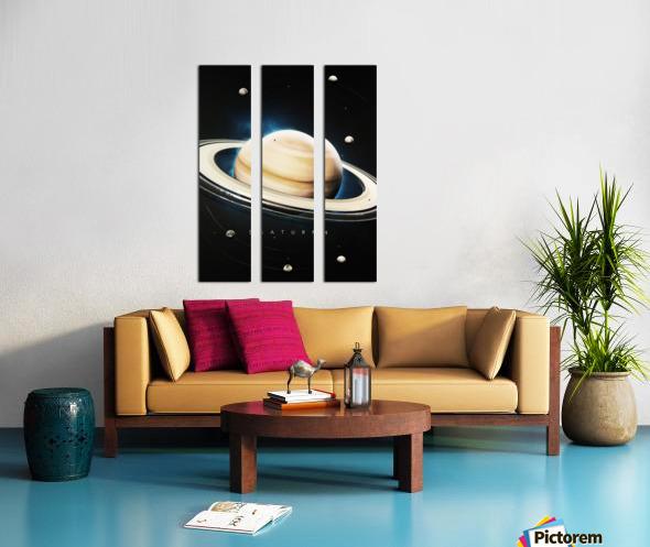 Destination Saturn Split Canvas print