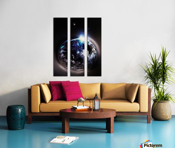 Cosmic Sapphire Split Canvas print
