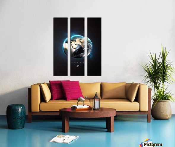 Destination Earth Split Canvas print