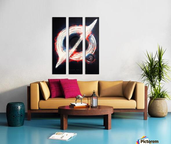 Black Hole Split Canvas print