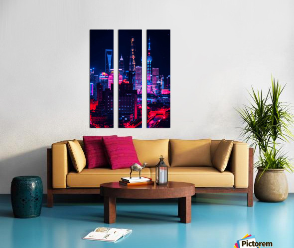 Neon City Split Canvas print