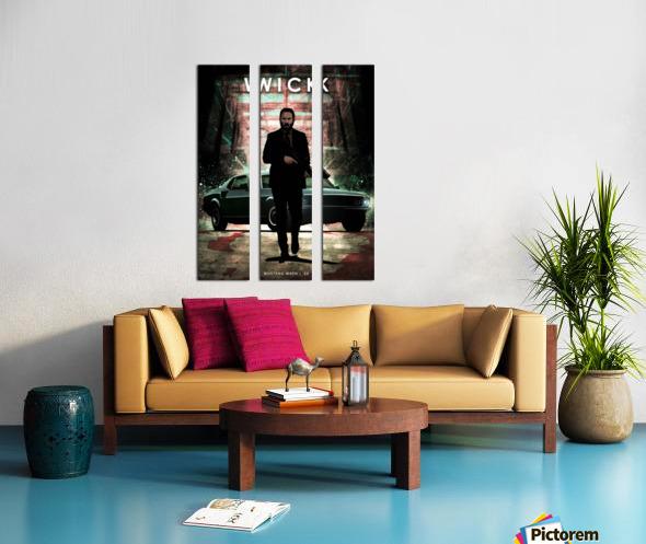 John Wick Split Canvas print