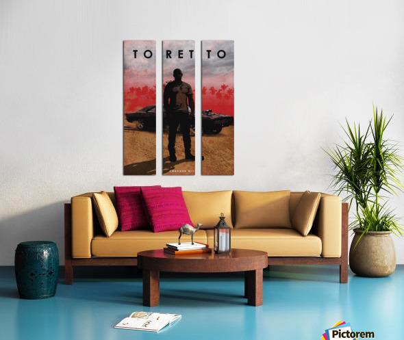 Dominic Toretto Split Canvas print