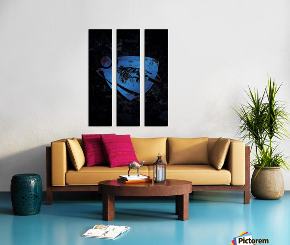 Rocket League Split Canvas print