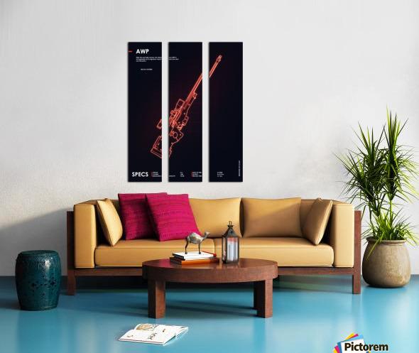 AWP CSGO WEAPON Split Canvas print