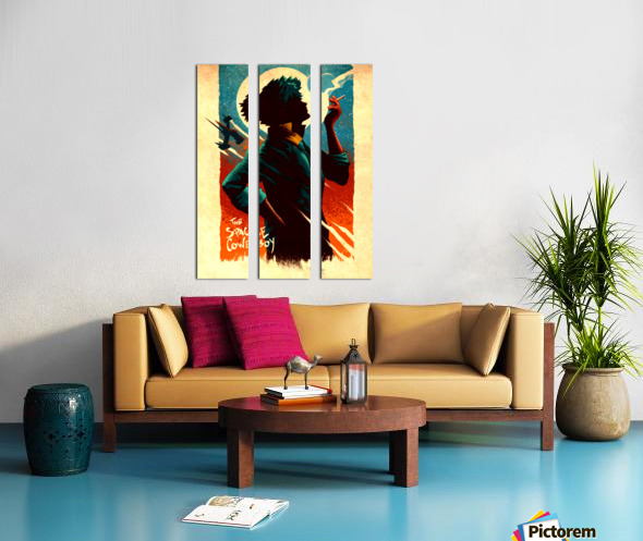 Spike COWBOY BEBOP Split Canvas print