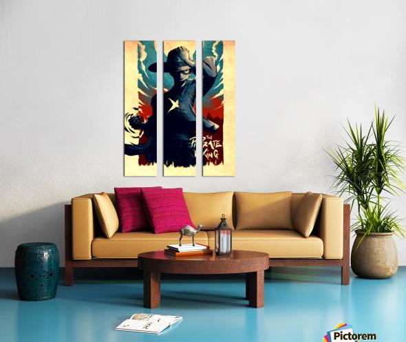 Luffy ONE PIECE Split Canvas print