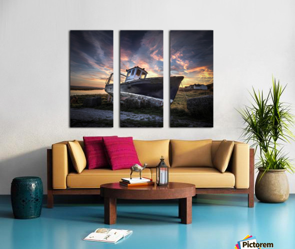 The old fishing boat Split Canvas print