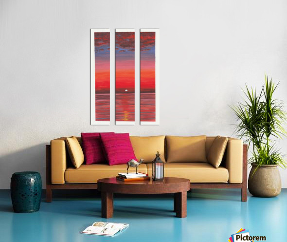 Ruby Night  Split Canvas print