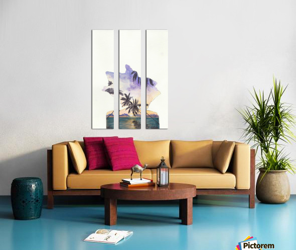 Reflection  Split Canvas print