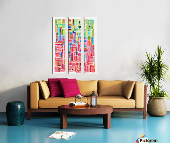 Stained Glass Split Canvas print
