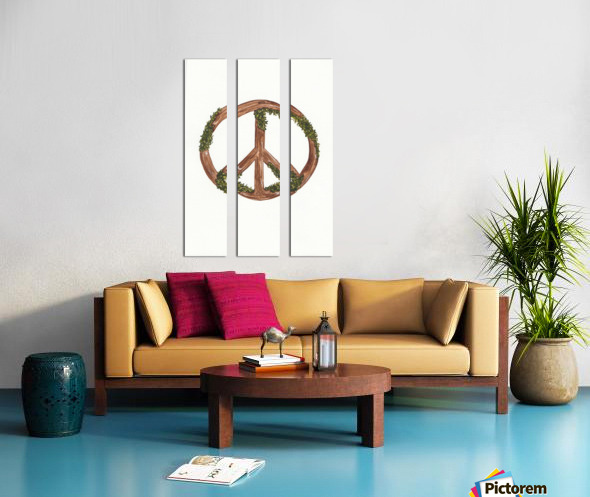 Peace Sign Split Canvas print
