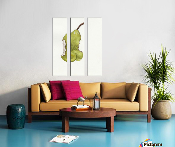 Up Pear-ass Split Canvas print
