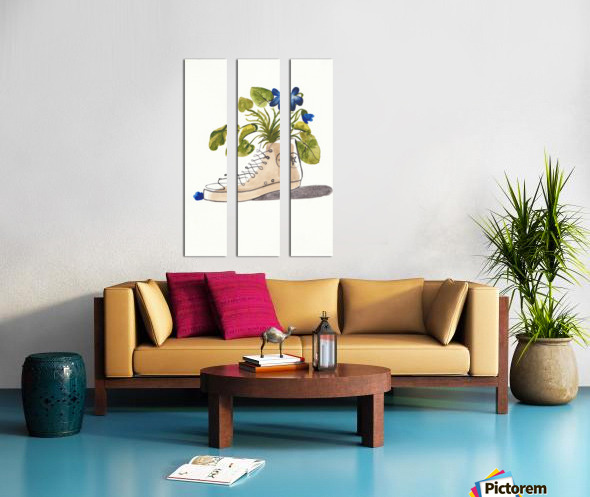Chucks and Flowers  Split Canvas print