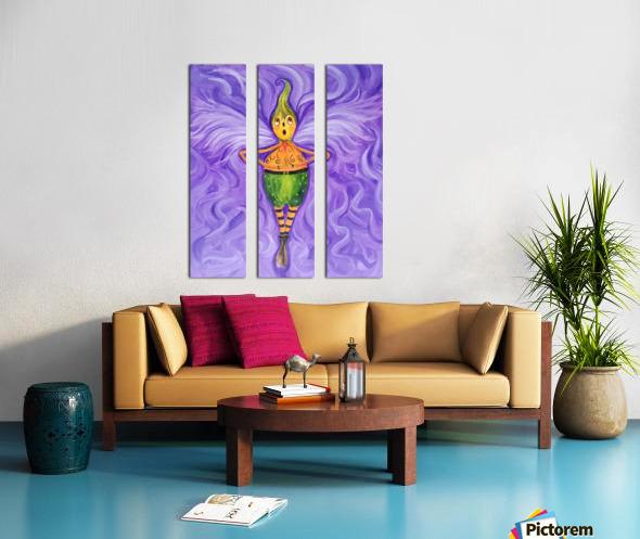 Spinning Pumpkin Man Split Canvas print