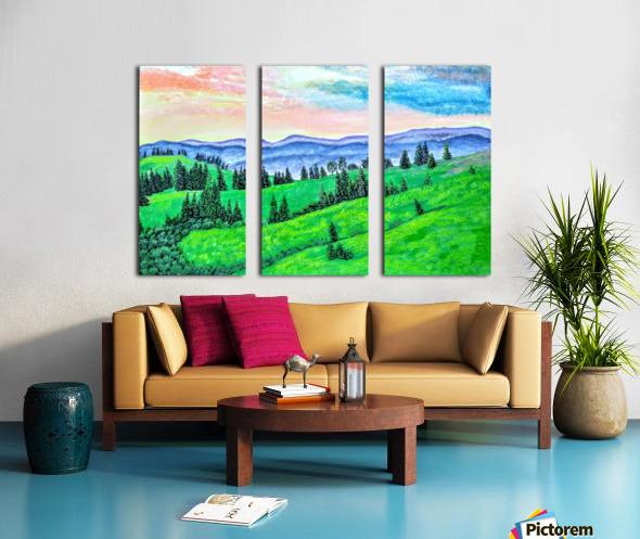 Golden Sunset Split Canvas print