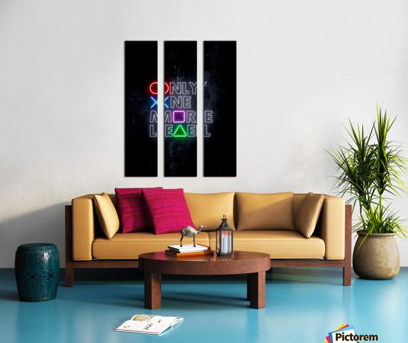 ONLY ONE MORE LEVEL Split Canvas print