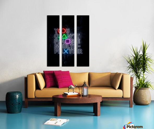 YOU CANT PAUSE MULTI-PLAYER Split Canvas print