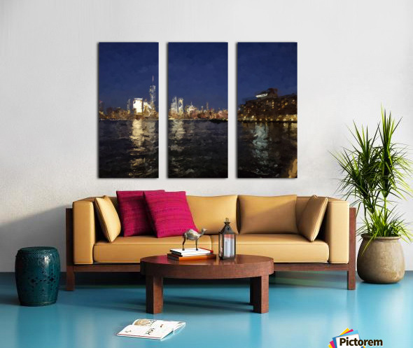NYNight Split Canvas print