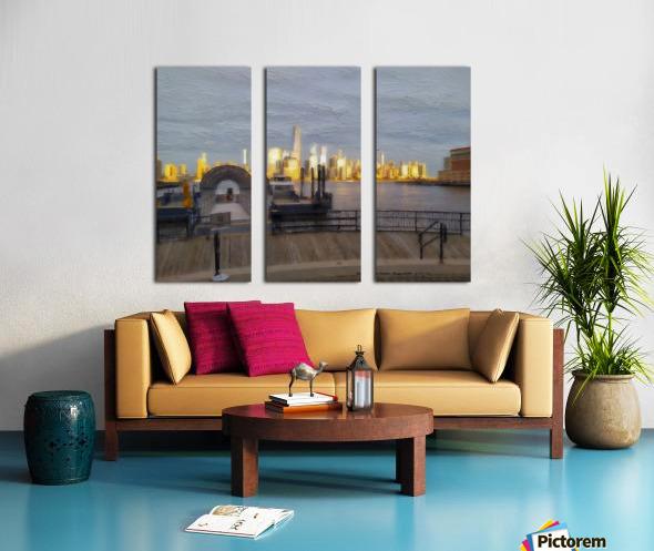 GoldenManhattan p Split Canvas print