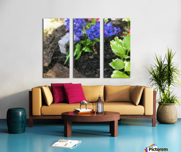 Flower p Split Canvas print