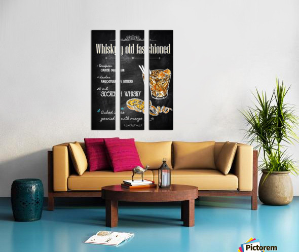 Whisky old fashioned Split Canvas print