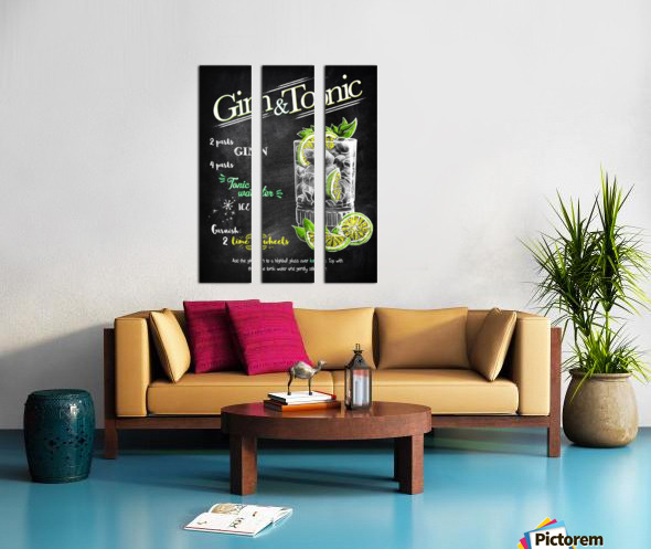 Gin and Tonic Split Canvas print