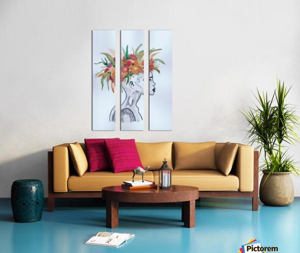 Crowned  Split Canvas print