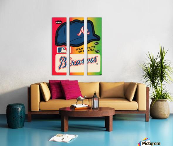 1983 Atlanta Braves Fleer Decal Split Canvas print