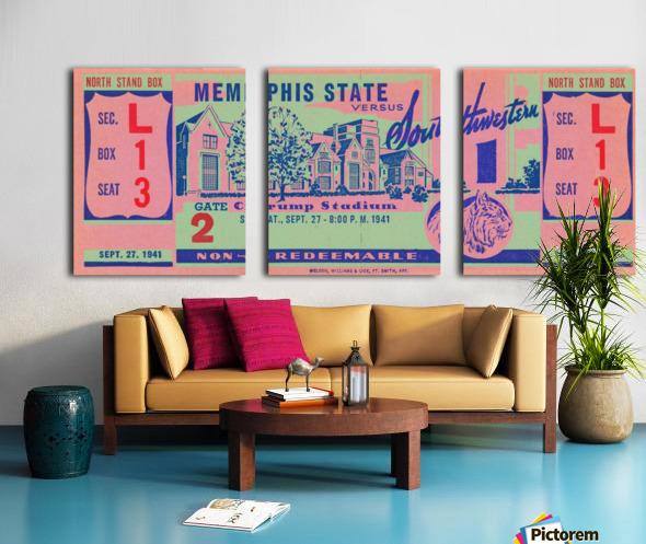 1941 Memphis State Split Canvas print