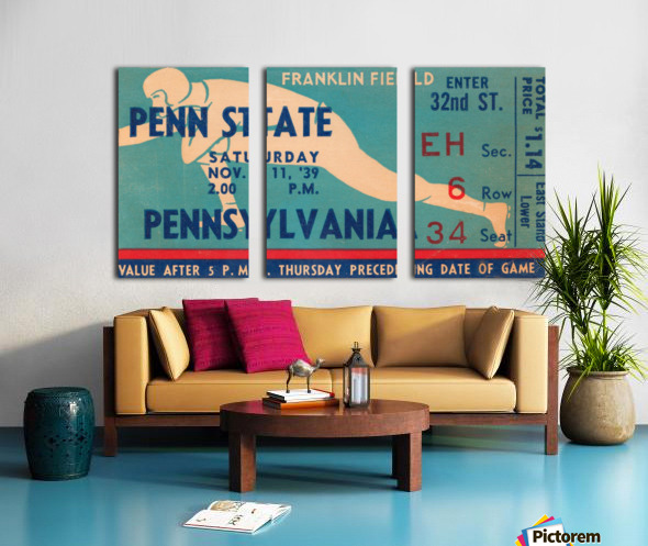 1939 Penn State vs. Pennsylvania Split Canvas print