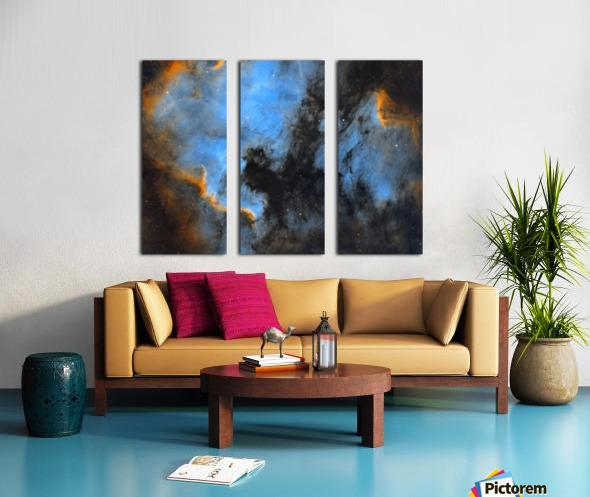 North American and Pelican Nebula Split Canvas print