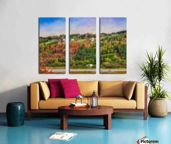 Arsenaults Hill Split Canvas print