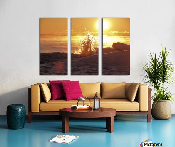A Splash of Sunrise Split Canvas print