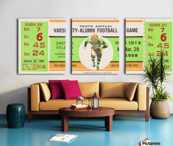 1958 Oklahoma Sooners Varsity Alumni Game Split Canvas print