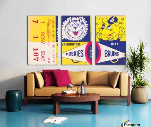 1957 UCLA vs. Washington Split Canvas print