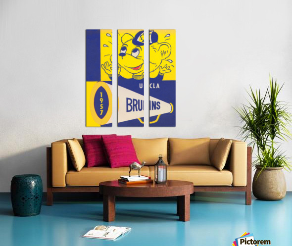 1957 UCLA Bruins Split Canvas print