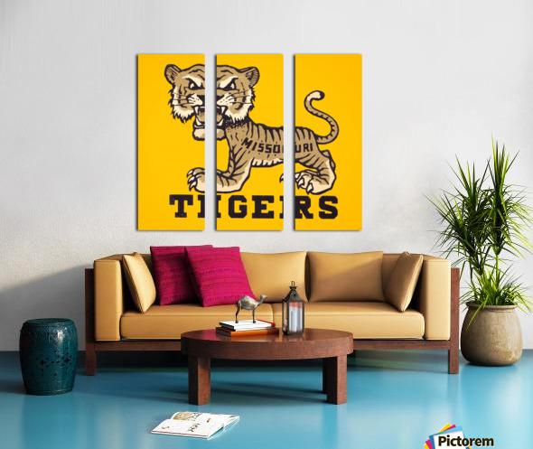 1950s Missouri Tigers Art Print Split Canvas print