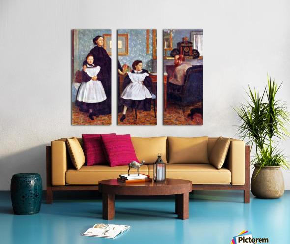 Portait of the Bellelli family by Degas Split Canvas print