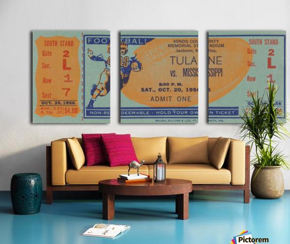 1956 Tulane vs. Ole Miss Split Canvas print