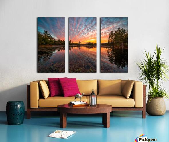 Mountain Rd Pond Split Canvas print