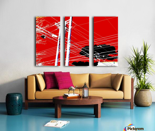 COTE SAINT LUC RED Split Canvas print