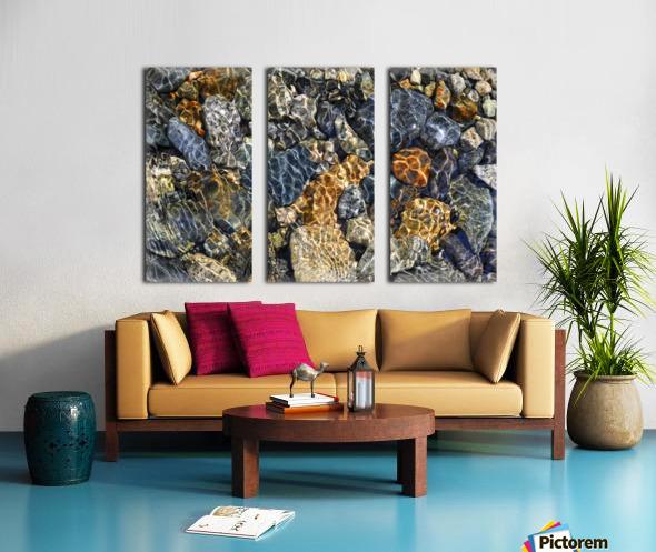 River Rocks Split Canvas print