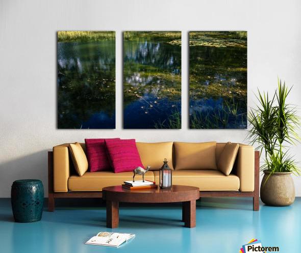 Monet style 3 Split Canvas print