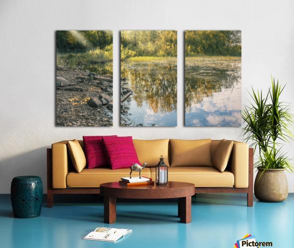 Monet style 4 Split Canvas print