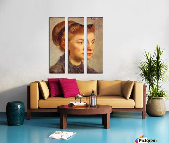 Portrait of a young Lady by Degas Split Canvas print
